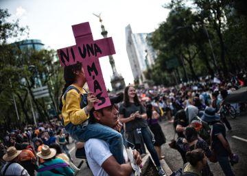 La capital mexicana marcha contra la violencia machista