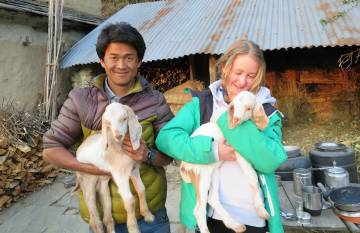 Bonding with the locals in the village of Nangi.