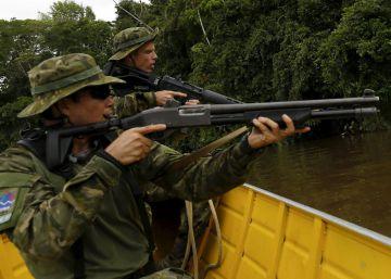 Garimpos de ouro ilegais na floresta amazônica