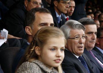 La primera vez de Leonor en el fútbol