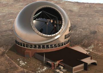 Aspecto que tendrá el telescopio de treinta metros.
