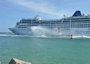 Cruise ship makes first US-Cuba voyage in over half a century