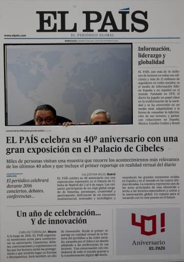 Exposicion 40 aniversario de El Pais en el Palacio Municipal de Cibeles.