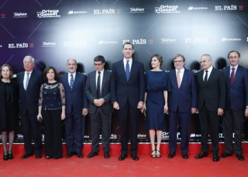 La llegada de los invitados a los Premios Ortega