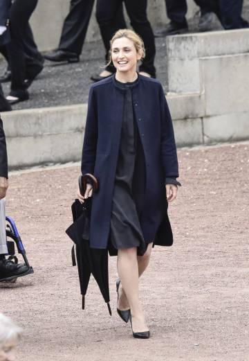 Julie Gayet, en el primer acto oficial del presidente Hollande, el pasado mes de junio.