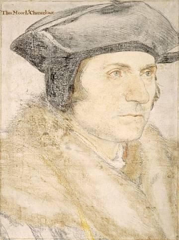 Retrato de Tomás Moro realizado por Hans Holbein.