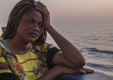 Mujer nigeriana fue rescatada por el Dignity I el 19 de julio.