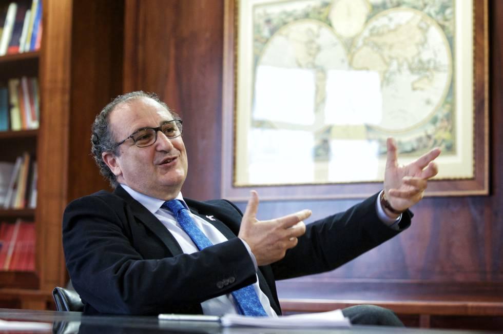 Andrés Moya durante la entrevista en el Centro Nacional de Investigaciones Oncológicas