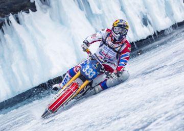 Carrera sobre el lago helado más profundo del mundo