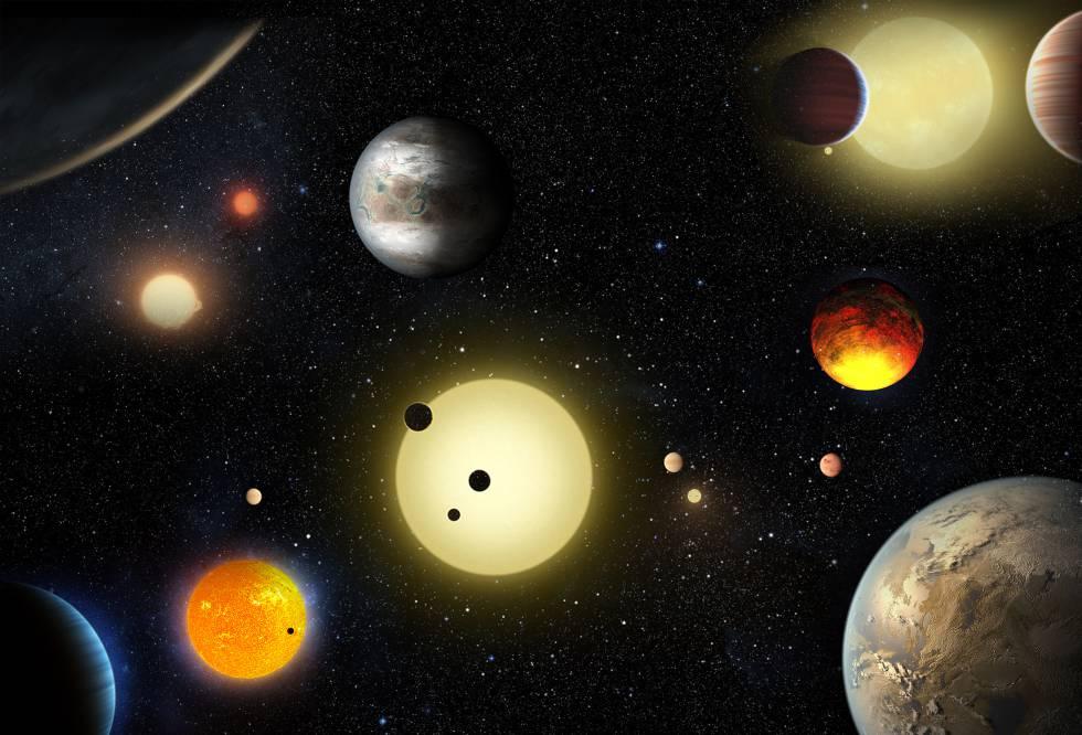 Imágenes de exoplanetas proporcionadas por la Nasa.