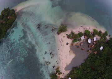 La subida del nivel del mar se traga varias islas del Pacífico