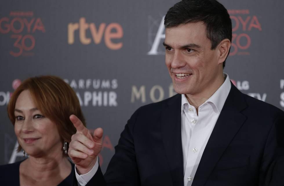 Pedro Sánchez, en la entrega de los Premios Goya.