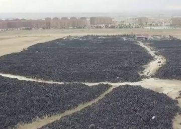 El cementerio de neumáticos de Seseña, a vista de dron