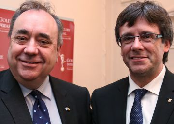 Salmond guía a Puigdemont