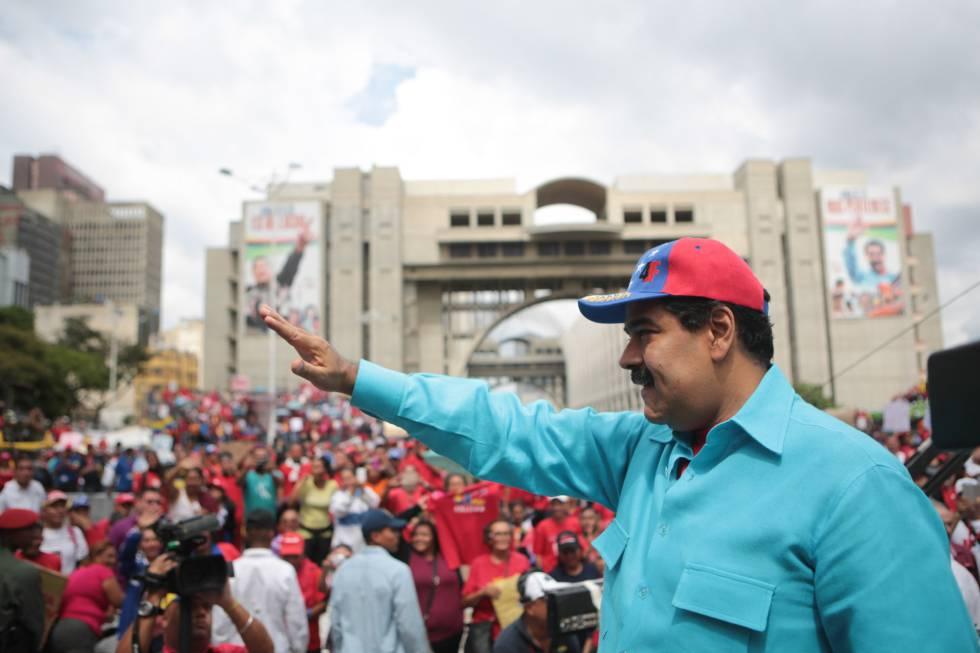 Nicolás Maduro, el pasado viernes, cuando decretó el estado de excpeción en Venezuela..