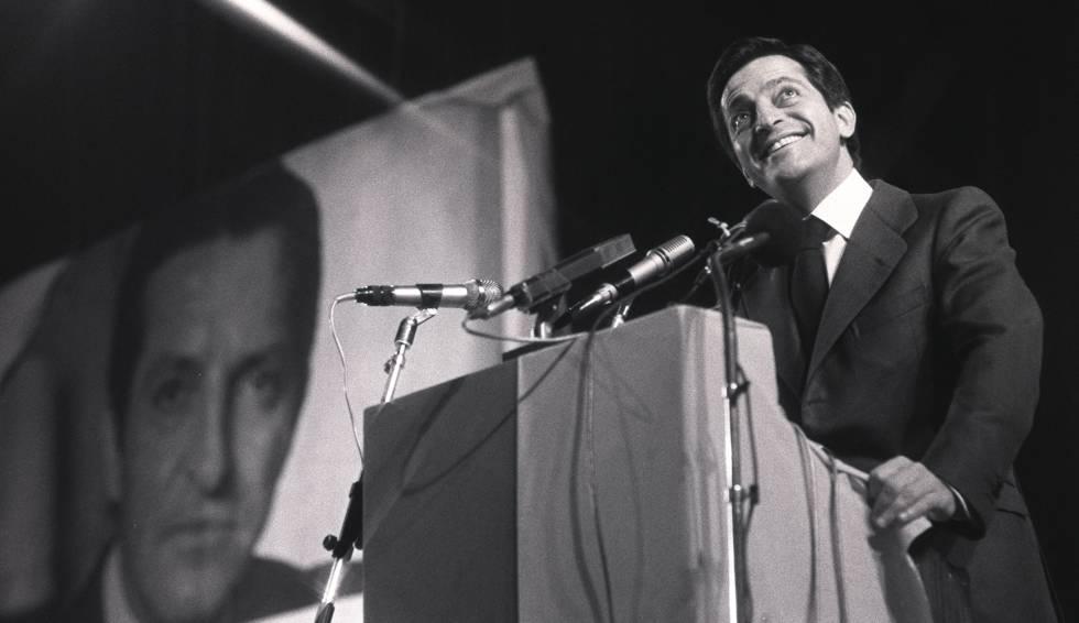 Adolfo Suárez, en un acto de campaña.