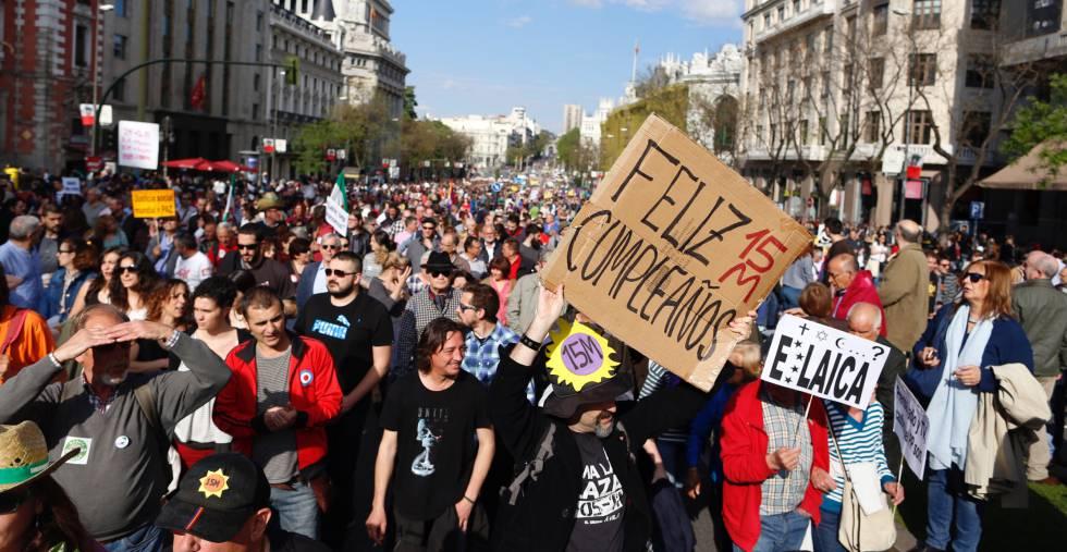 Manifestación del 15-M en Madrid.