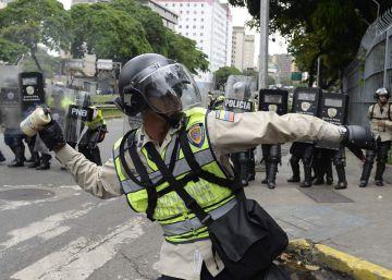 A marcha opositora na Venezuela