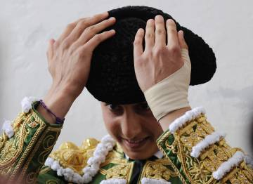 El torero Andrés Roca Rey el 15 de abril de 2016 en Sevilla.