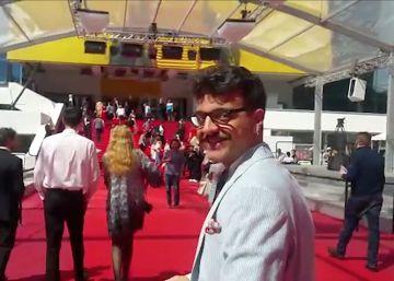 Cómo es estar dentro de la alfombra roja de Cannes