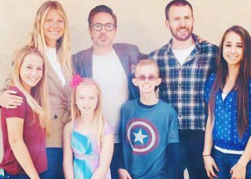 La sorpresa de Gwyneth Paltrow, Robert Downey Jr. y Chris Evans
