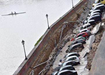 Socavón a orillas del Arno