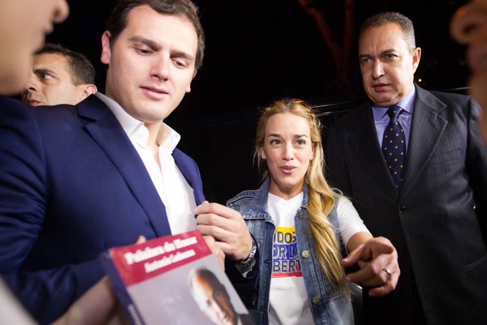 Albert Rivera y Lilian Tintori intentaron, sin éxito, visitar al alcalde de Caracas, Antonio Ledezma, que se encuentra en arresto domiciliario