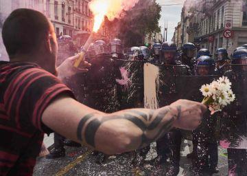 Enfrentamientos en otra jornada de movilización en Francia