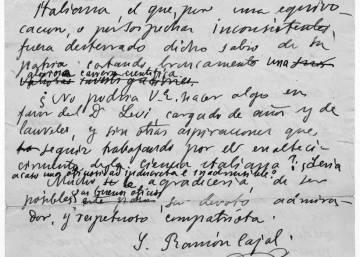 El misterio de las 12.000 cartas perdidas de Ramón y Cajal