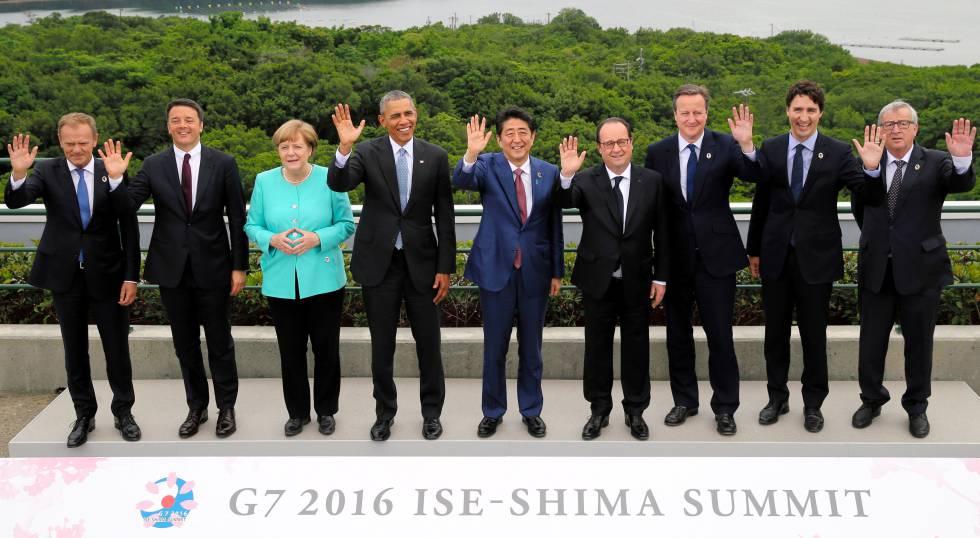 Foto de familia del G7