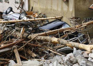 Destrozos causados por las fuertes lluvias en Baden-Wuerttemberg.