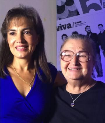 Sandra A. Cauffman con su madre.
