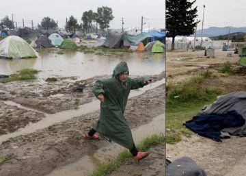 Antes y después del campo de refugiados de Idomeni