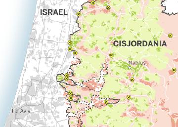 El mapa de la ocupación de Cisjordania