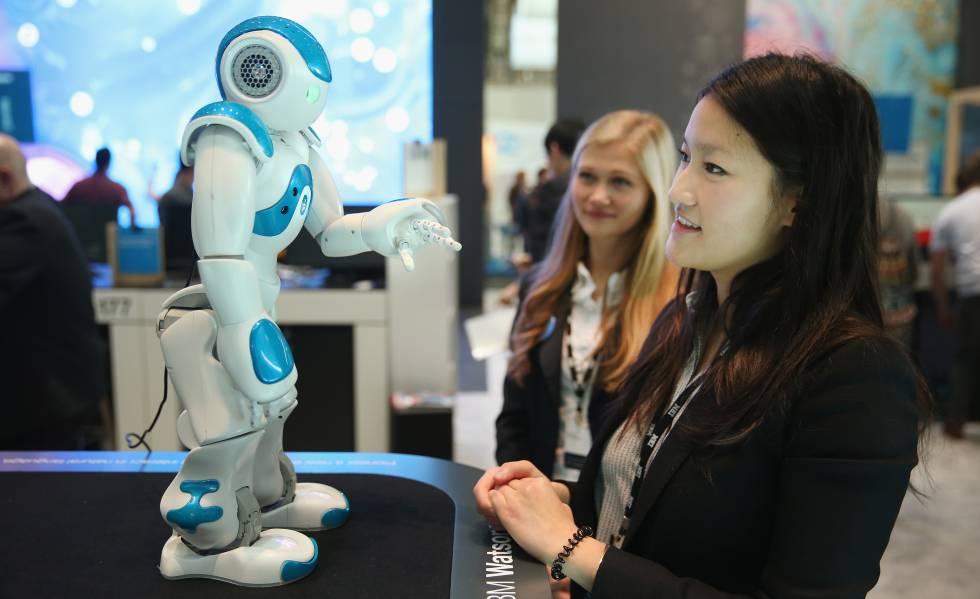 El robot Watson, desarrollado por la empresa IBM.