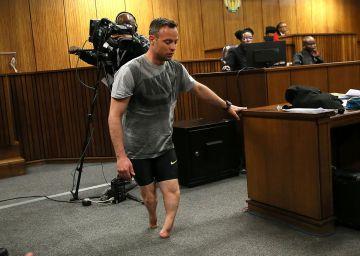 Pistorius se quita las prótesis y muestra su vulnerabilidad