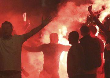 Enfrentamientos entre aficionados en Lille