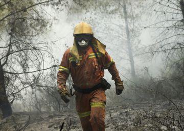 Incendio forestal en Valencia