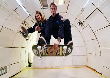 Haciendo 'skate' sin gravedad