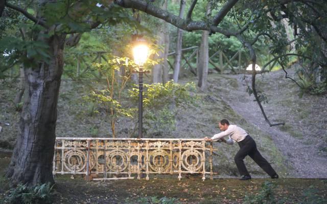Ensayo general de 'Sueño de una noche de verano', en el parque Cristina Enea de San Sebastián