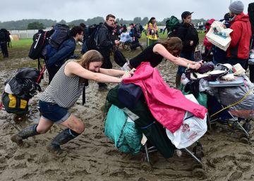 Las imágenes más impactantes del festival de Glastonbury