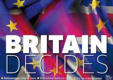 Portadas de los periódicos de Reino Unido sobre el 'Brexit'
