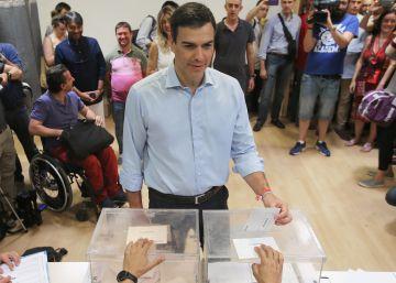 Los políticos votan en la jornada electoral del 26J