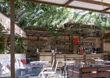 Arte y cocina en la terraza