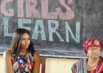 Michelle Obama comienza en Liberia el viaje que la traerá a España