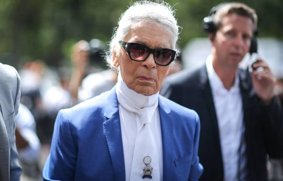 Karl Lagerfeld, tras el último desfile masculino de Dior, en París el pasado sábado.