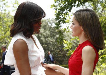 """El encuentro de Michelle Obama con su """"amiga"""" la reina Letizia"""