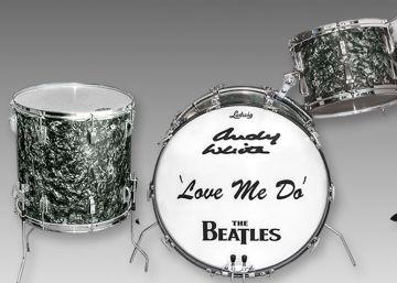 Sale a subasta una batería de Los Beatles