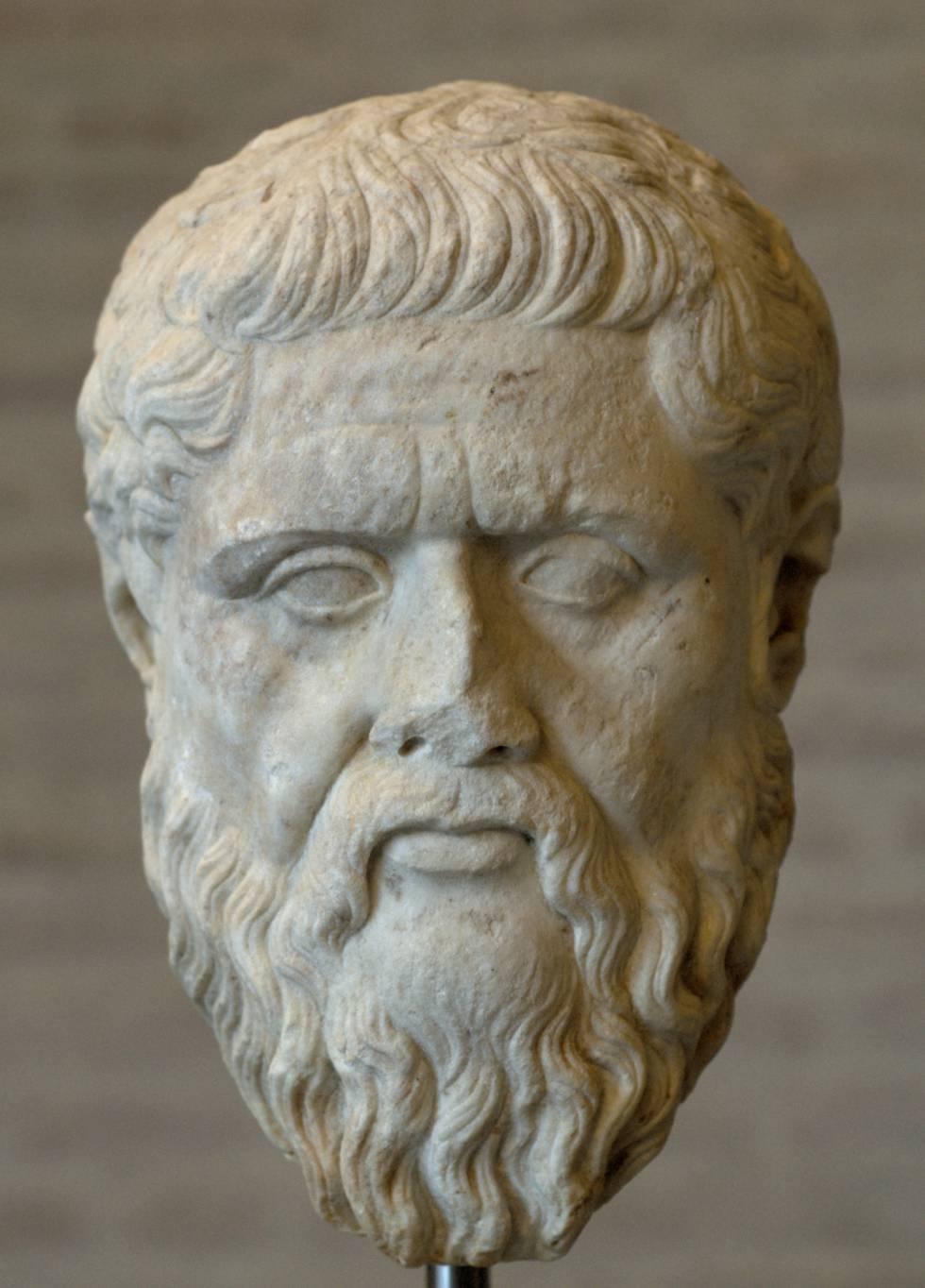 Escultura de Platón.