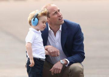El príncipe Jorge, aventura en helicóptero
